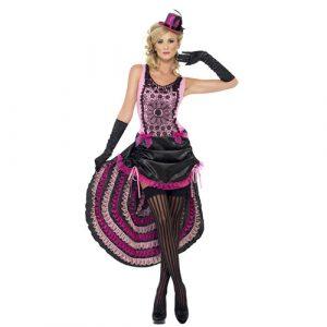 Déguisement beauté burlesque rose et noir