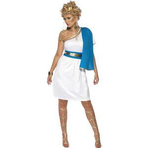 Déguisement beauté romaine bleu et blanc