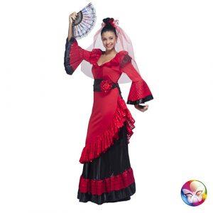 Déguisement Carmen rouge et noir