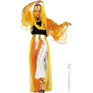 Déguisement danseuse orientale jaune orangé