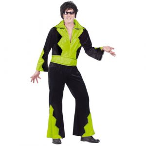 Déguisement Elvis noir et vert