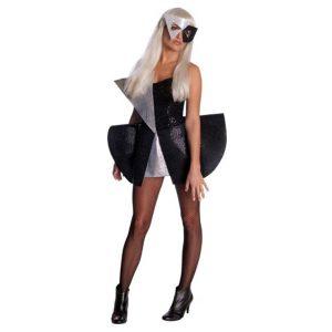 Déguisement licence Lady Gaga noire et argent