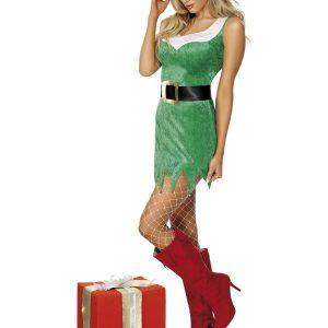 Déguisement lutine Noël tout en vert