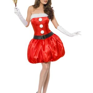 Déguisement Mère Noël robe courte ballon