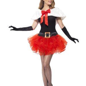 Déguisement Mère Noël sexy rouge et noir