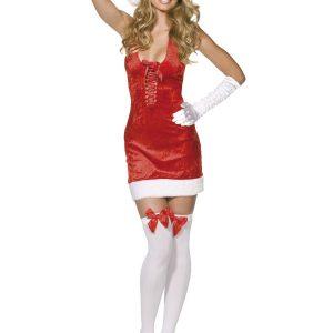 Déguisement Mère Noël sexy robe rouge