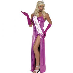 Déguisement Mr Miss Monde violet