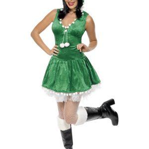 Déguisement robe verte sexy Noël