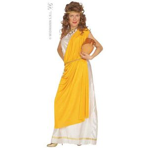Déguisement romaine jaune et blanc