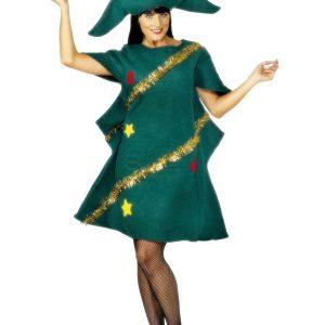 Déguisement sapin de Noël et chapeau femme