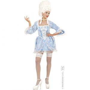 Déguisement sexy marquise bleu et blanc