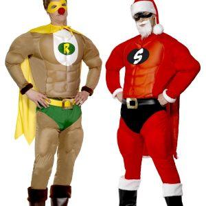 Déguisements super renne et super Père Noël