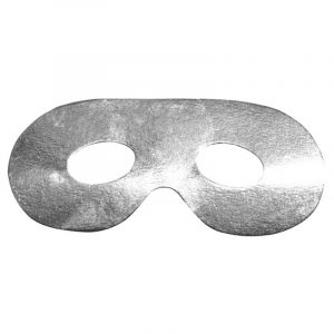 Masque loup carton argent