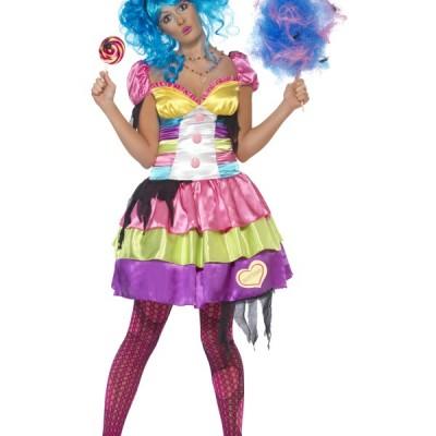 costume femme robe bonbon