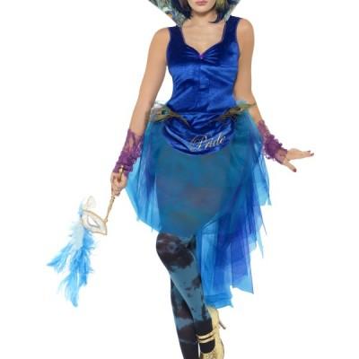 costume femme robe tule bleu