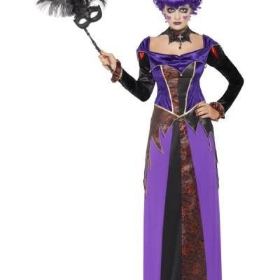 costume femme gothique violet noir
