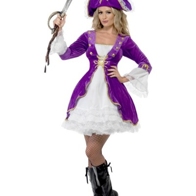 costume femme pirate sexy violet