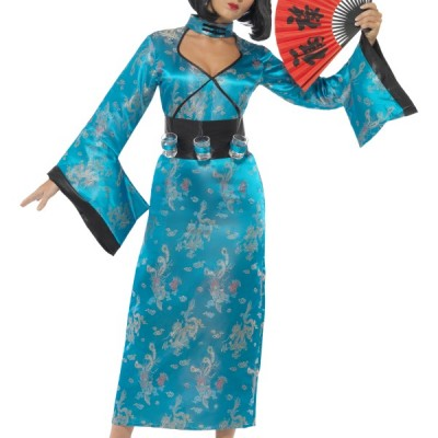 costume femme chinoise bleu