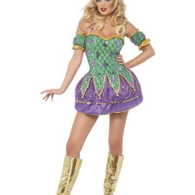 costume femme boule vert violet