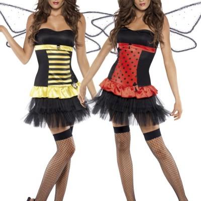 costume feme abeille et coccinelle