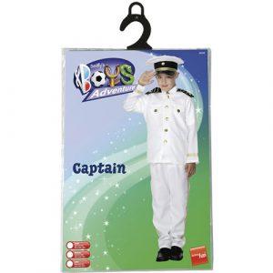 Costume enfant capitaine noir blanc pochette