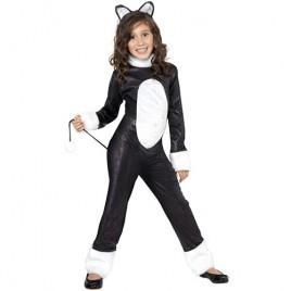 Costume enfant chat noir et blanc