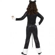 Costume enfant chat noir et blanc dos