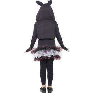 Costume enfant chat squelette noir et violet dos