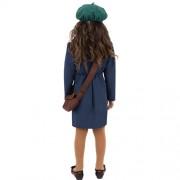 Costume enfant deuxième guerre mondiale fille dos