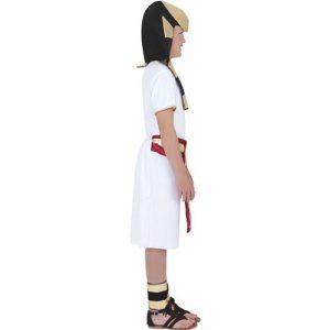 Costume enfant égyptien blanc doré profil