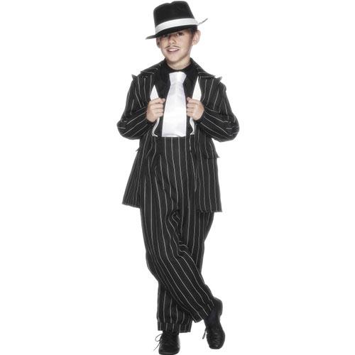 costume enfant ann es 40 noir fines rayures blanches d guisement. Black Bedroom Furniture Sets. Home Design Ideas