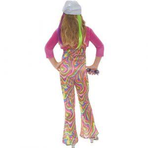 Costume enfant groovy glam fille dos