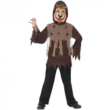 Costume enfant kit loup marron