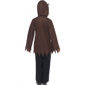 Costume enfant kit loup marron dos