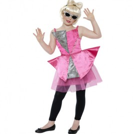 Costume enfant mini diva dance rose