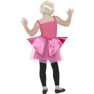 Costume enfant mini diva dance rose dos