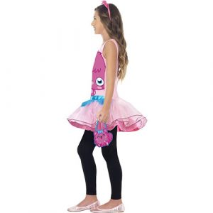 Costume enfant monstre Moshi Poppet rose profil