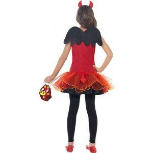 Costume enfant monstre Moshi Diavlo rouge dos