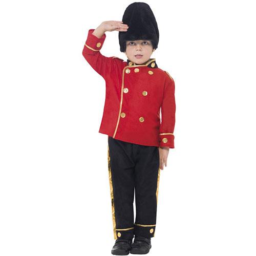costume enfant garde rouge et noir ensemble et chapeau d guisement. Black Bedroom Furniture Sets. Home Design Ideas