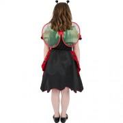 Costume enfant petite coccinelle rouge et noire dos