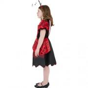 Costume enfant petite coccinelle rouge et noire profil