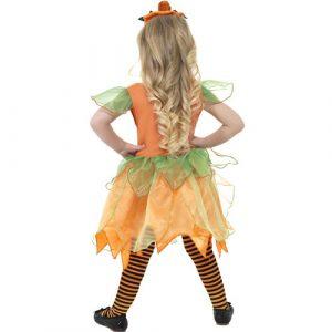 Costume enfant petite fée citrouille dos