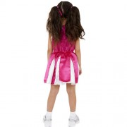 Costume enfant petite pompom girl rose dos