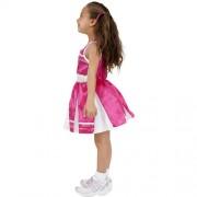 Costume enfant petite pompom girl rose profil