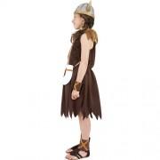 Costume enfant petite viking marron profil