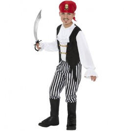 Costume enfant pirate noir blanc