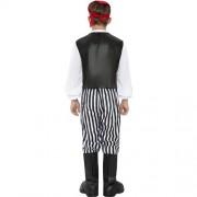 Costume enfant pirate noir blanc dos