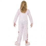 Costume enfant pyjama fille zombie dos