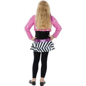 Costume enfant fille rockstar glamour dos