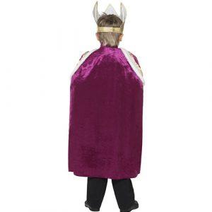 Costume enfant roi violet dos